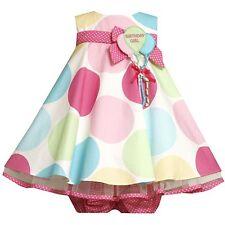 NWT Bonnie Jean Baby Girls 24M Polka Dot Pastel Balloon Birthday Party Dress NEW