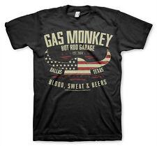 Gas Monkey Garage American Viking Helmet Hot Rod Werkstatt Männer Men T-Shirt