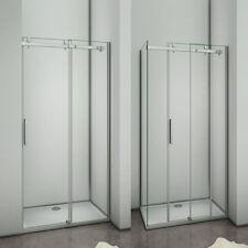 Luxury 1950 Frameless Sliding Shower Enclosure Door Glass Screen Tray Free Waste