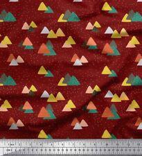Soimoi Fabric Snow & Mountain Nature Print Sewing Fabric Meter-NT-518H