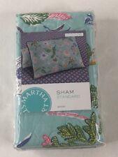 NIP Martha Stewart Collection Sophie Floral One Pillowsham Standard Quilted 100%