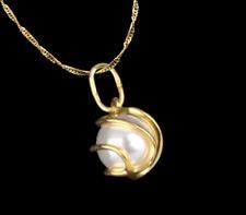 ECHT GOLD *** Anhänger Perle im Käfig, optional mit Kette