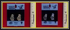 "Harley Davidson Earrings ""Rose""-(2) Variations-H109G/S-PE"
