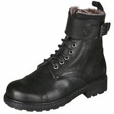 Momino 1407M Kinder coole Boots Stiefeletten Leder Lammfell Unisex 30-40 Neu