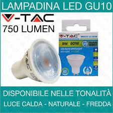 FARETTI LED 8W GU10 SMD SPOTLIGHT V TAC VT-2889 1693/1694/1695 INCASSO FARETTO
