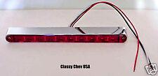 10 LED Univ License Plate STOP Light - Red / Chrome NEW