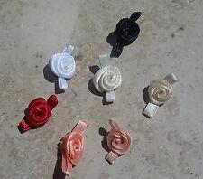 Posamenten 10 Stück Stoffrosen Satin Rosen  2 x 1 cm zum Aufnähen