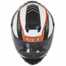 Spada SP16 Gradient White & Orange Full Face Motorcycle Motorbike Helmet XS-XL
