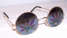 2 pair POT LEAF REFLECTION SUNGLASSES eyewear glasses marijuana novelties new