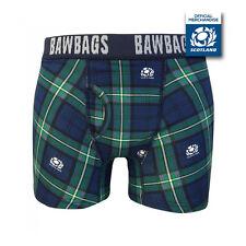 BawBags Nuevo Para Hombre Oficial Escocia Rugby Boxer Shorts Tartán Nuevo Y En Caja