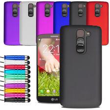 For LG G2 Mini Armour Hard Shell Case Back Cover + Screen Film + Stylus Pen