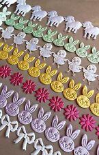 Kids mic ruban Cardmaking décor lapin poussin mouton baby Pâques motif rustique