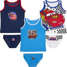 Neu Unterwäsche 2tlg Set Jungen Hemd Slip Disney Cars 92-98 104-110 116-122 #305