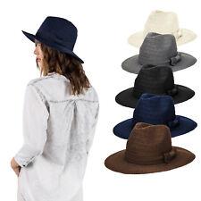 Mens Womens Unisex Fedora Hat Trilby Summer Floppy Staw Hat Brim Cap Hat Panama