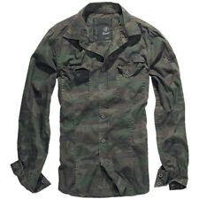 Brandit 4005 Herren Langarm Hemd Slim Fit Shirt Polo Shirt Freizeithemd Woodland