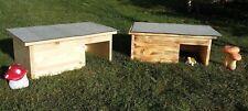 Schildkrötenhaus Terrarium Schutzhaus,handgemacht Windfang 8 Varianten+Heu/Stroh