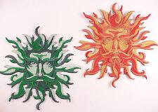 Brodé vert homme / Dieu Soleil Motif / Applique / Patch-Wiccan Pagan Goth Celtique