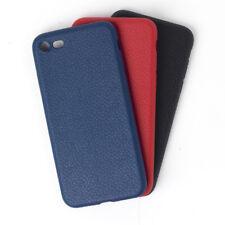 Handy Hülle Leder TPU ultra dünne weiche Hülle soft case Bumper 3 Farb. iPhone