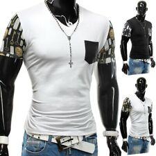 Herren Sommer T-Shirt Stretch Slim fit Brusttasche Netztoff Style Secretz Plus