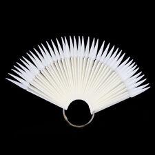 40 Tips Stiletto Nail Polish Display Sticks Fan False Nail Art Gel Color Chart