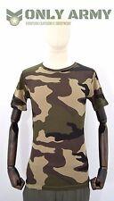 T-Shirt Esercito Francese CCE Woodland F2 Camo T-shirt girocollo DPM Mimetica NATO
