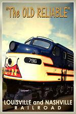 Louisville & Nashville Old Reliable New Retro Railroad Train Poster-Art Print164
