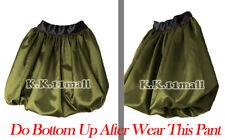 Satin Short Pant Bubble Olive Green Pant Casual Formal BeachWear Short Pant S13