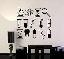 Vinyl Wall Decal Science University School Laboratory Chemistry Stickers ig4245