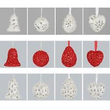 SET DI 4 Paillettes & gemma albero di Natale Decorazioni da appendere -