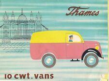 FORD Thames 10cwt precoce-Mid 1950s UK Opuscolo Vendite sul mercato Van Estate PICK UP