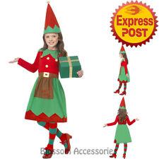 CK893 Santa Little Helper Elf Christmas Xmas Fancy Dress Up Girls Costume Outfit