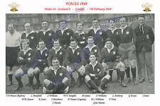 WALES 1948 (v Scotland) RUGBY TEAM POSTCARD