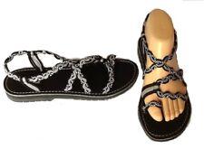 Confortables/mode SANDALES cordes marines noir/gris/blanc