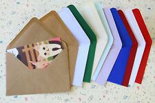 Colour Blank C6 Envelopes 10pc Kraft Brown paper craft DIY wedding invitations
