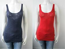 Guess Trägertop Shirt Top W22R22 Blau Rot Neu S M L XL