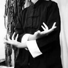 Unisex Leinen Chinesisch Tang Anzug Traditionell Kung Fu Tai Chi Jacke Mantel