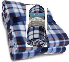 Tartan Travel Rug ~ Car Blanket ~ Fleece Throw  ~ Wheelchair ~ Pet Blanket