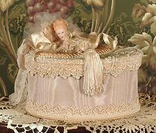 Victorian Keepsake / Trinket / Hat Box - Large Oval- Vintage Style - Handmade