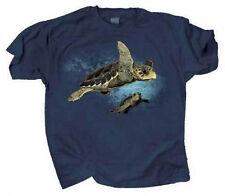 Loggerhead Turtles T Shirt Adult Sizes 100% Cotton Threatened Endangered Species