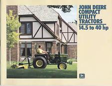 John Deere Compact Utility Tractors Sales Brochure NEW