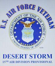 DESERT STORM 15TH AIR DIVISION PROVISIONAL* U.S.AIR FORCE W/ EMBLEM*SHIRT