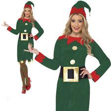 Elf Costume Santa's Little Helper Pixie Womens Christmas Xmas Fancy Dress UK 8-1