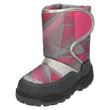 Girls Cutie Slip On Nylon Snow Boots
