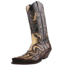 NUEVO Sendra Pitón Botas de Oeste Botas de Cowboy 7428 Marrón