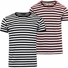 c3b0a0ca Retro Slim Fit Striped T-Shirts for Men   eBay