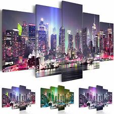 CUADROS EN LIENZO XXL 3 colores DECORACIÓN DE LA PARED NEW YORK d-C-0015-b-n