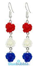 Bluebubble ROSE BUD Wedding Earrings Vintage Flower Sweet Bride Bridesmaid Prom