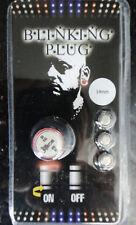 """1pc 9/16"""" 14mm Titanium Anodized LED Blinking Ear Plug"""
