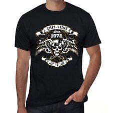 Speed Junkies Since 1972 Homme T-shirt Noir Cadeau D'anniversaire