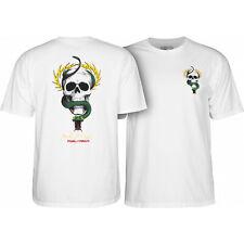 Powell Peralta Skateboard Shirt McGill Skull & Snake White